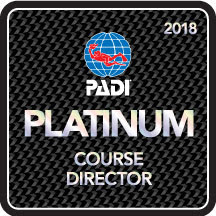 Camille received 12th consecutive Platinum PADI Course Director rating