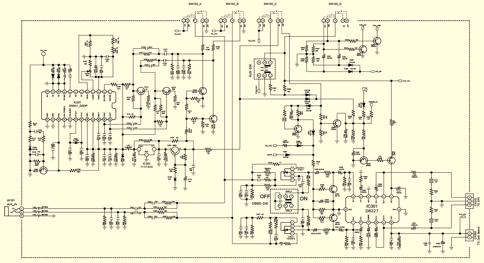Philips Az385 05 12 96 Cd Mp3 Fm Usb Schematic Exploded View Circuit Diagram Main Board And Pwb Bottom