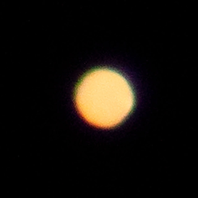 Mars with 560mm scope with Barlow Lens, 1/30 second DSLR (Source: Palmia Observatory)