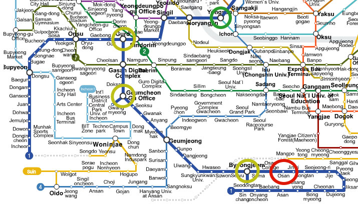 Jeongja Station Subway Map.Yeongtong Yummies Reading The Subway Display Or How To Not Get On