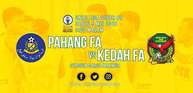 Live Streaming Pahang vs Kedah 5.5.2018 Liga Super
