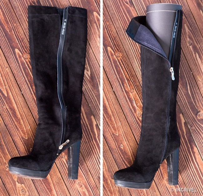 Para manter o formato de seus calçados de cano alto, coloque revistas enroladas dentro deles (Reprodução/Incrível)