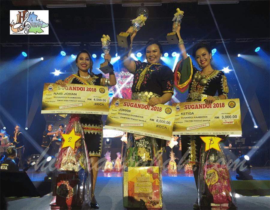 Juara Sugandoi Kaamatan peringkat negeri Sabah 2018