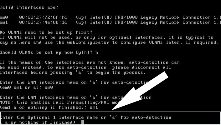How to assign network interface in pfSense?
