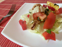 Salata iceberg cu nuci si menta