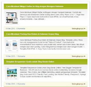 Daftar Isi Blog (Sitemap) dengan Gambar Thumbnail