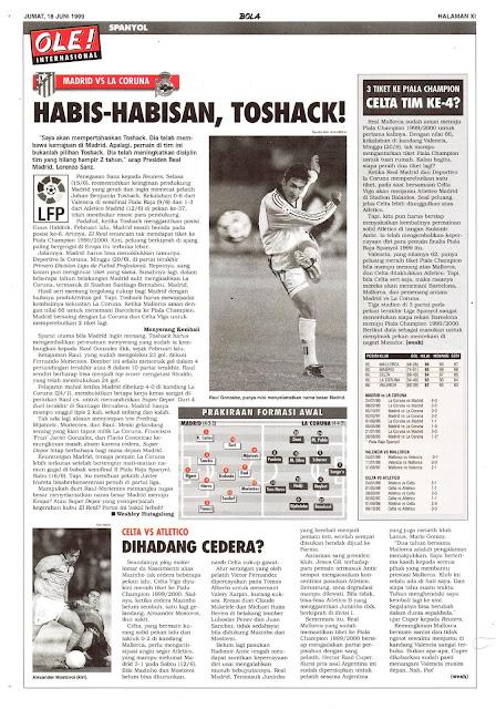 MADRID VS LA CORUNA HABIS-HABISAN, TOSHACK