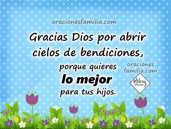 Oración con imágenes de buenos días, frases cortas de oraciones de la mañana por Mery Bracho.