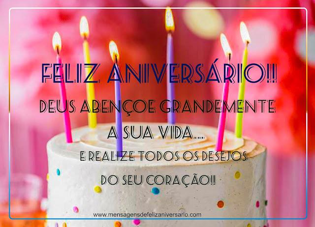 Deus Abençoe Grandemente a sua vida pelo seu Aniversário, Mensagens de Feliz Aniversário, Mensagem de Aniversário