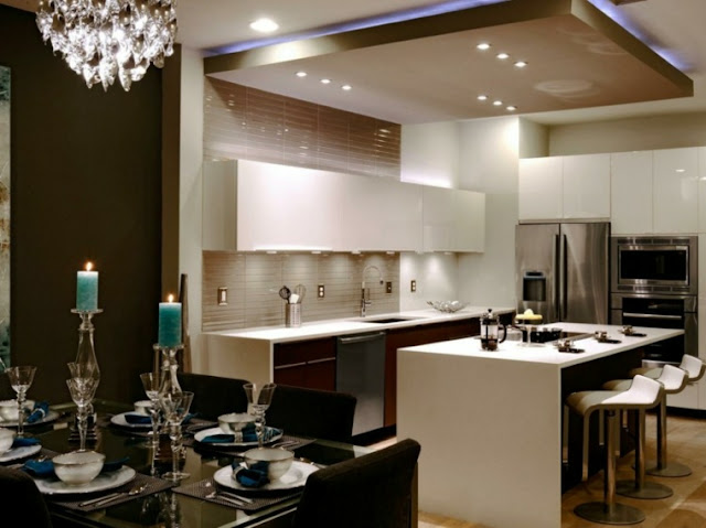 Led lights modern kitchen design
