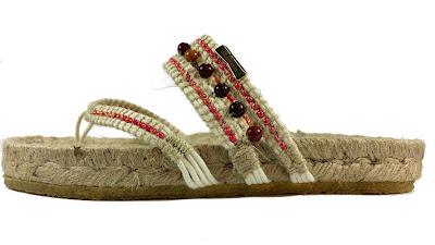 """calzado hecho en Elche,Women´s ILICENCA Vegan """"Mookaite-Jasper-Jute"""" Sandals, Red"""