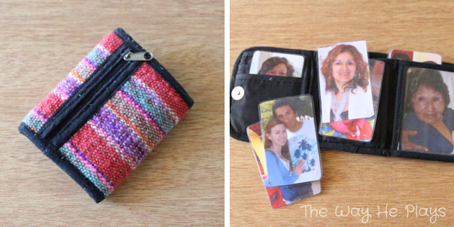 Wallet with Family Photos | 20 Busy Bags for Busy Little People