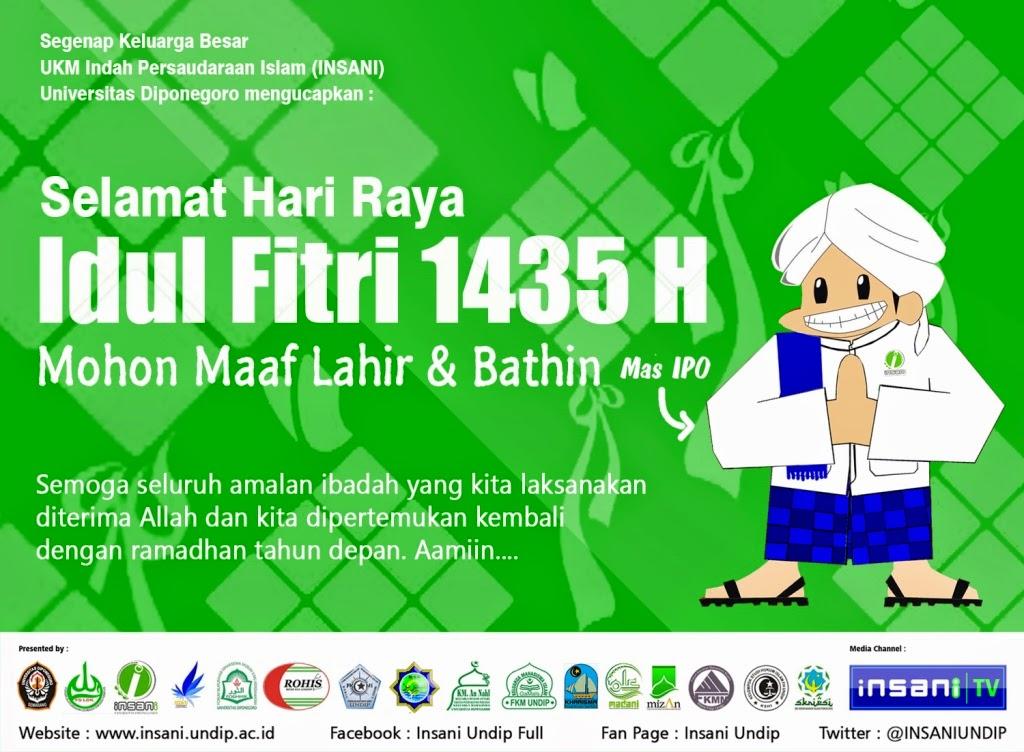 Sukadesain Pamflet Selamat Idul Fitri Puasa Syawal Insani Undip