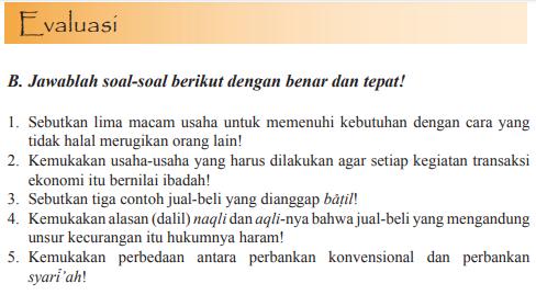 Jawaban Esai Penilaian Cuilan 9 Pai Halaman 156 Kelas 11 Ekonomi Islam Belajar Belajar Wirausaha