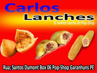 Carlos Lanches no pop-shop.