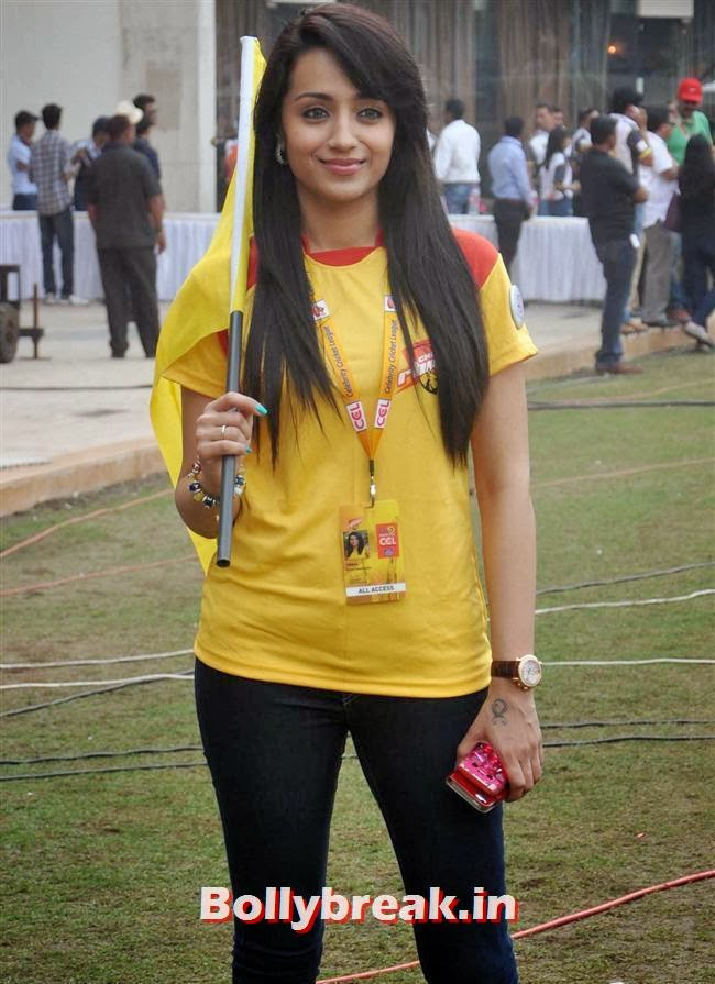 Trisha, Trisha & other South Actresses at CCL Season 4 2014