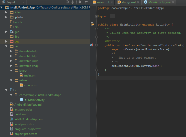 Plastic SCM blog: JetBrain's IntelliJ 14 Android development