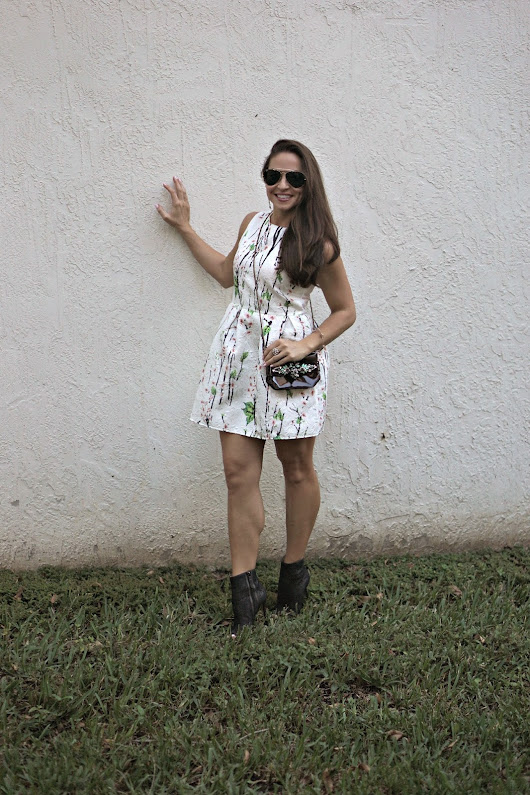 Look of the Day: Tulip Dress & Lace Booties