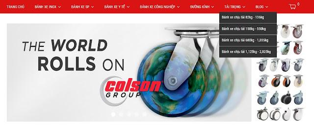 Hướng dẫn yêu cầu báo giá bánh xe PU Colson www.banhxepu.net