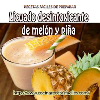 Licuado desintoxicante de melón y piña✅mejora nuestra piel; es muy importante desintoxicarnos, este licuado nos dará una imagen más saludable y nos sentiremos mucho mejor.