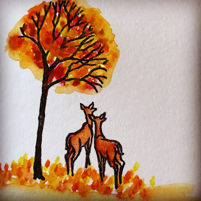 watercolor_deer_scenery_stamped_card