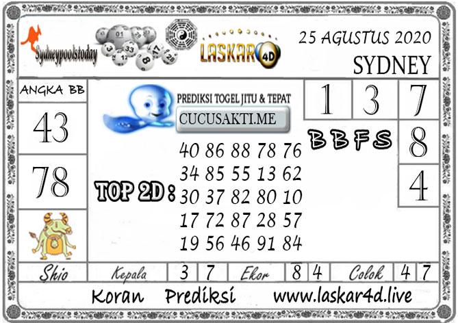 Prediksi Togel SYDNEY LASKAR4D 25 AGUSTUS 2020