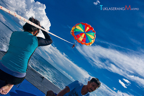 Parasailing in Samal Island, paradise, backpacking, adventure, philippines