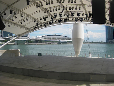 domes are the most prominent features of  Singapore attractions : Esplanade Theaters
