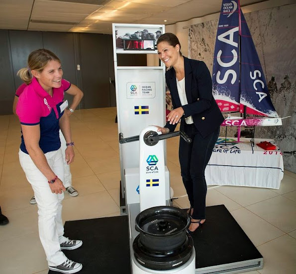 Crown Princess Victoria met with members of the women's sailing team that will participate in the SCA Volvo Ocean Race