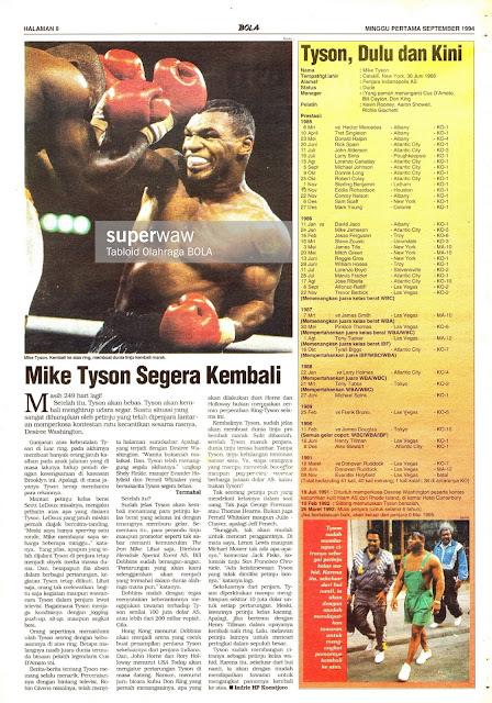 TINJU: Mike Tyson Segera Kembali
