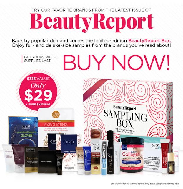 new beauty beauty report sampling box