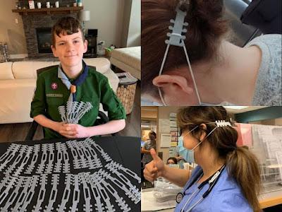 الطفل كوين يبتكر حل بسيط و ذكي يمنع احتكاك شريط  الأقنعة الطبية خلف الأذن