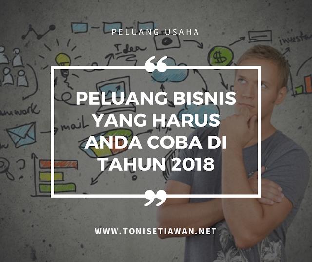 Peluang Bisnis Yang Harus Anda Coba Di Tahun 2018