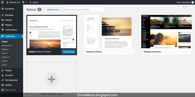 Es sencillo activar un nuevo tema wordpress