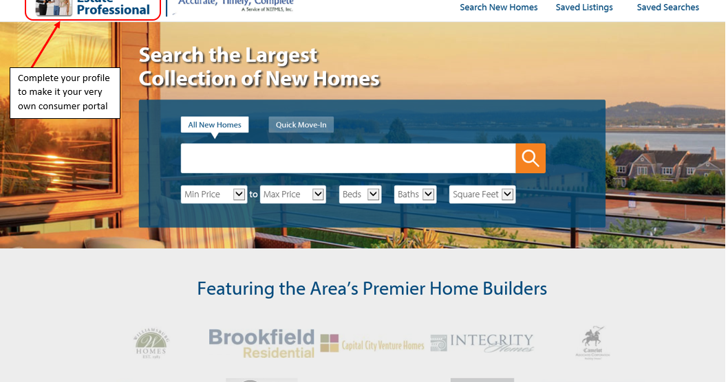 Realtyweb Net New Home Source Professional Consumer