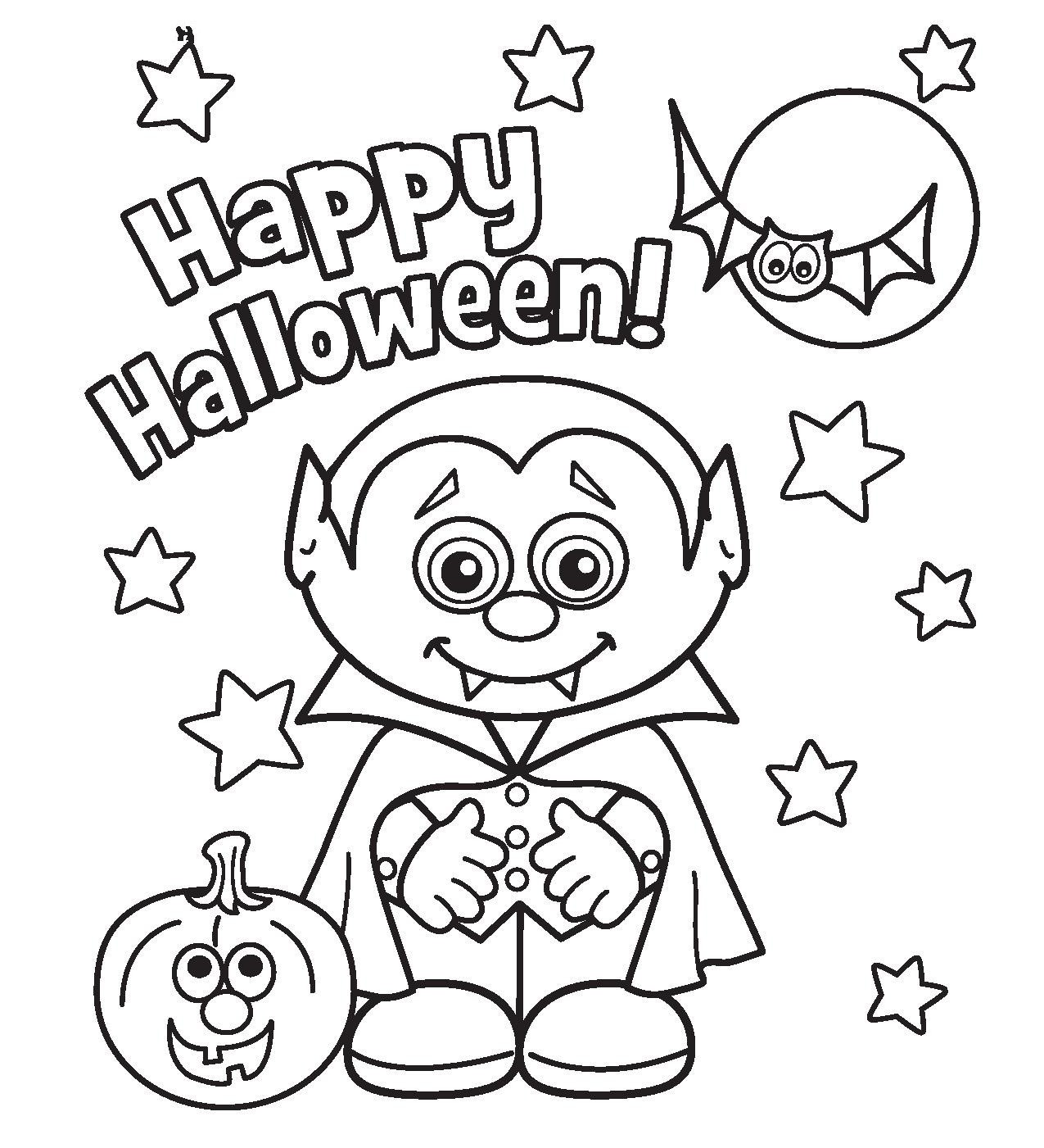 Halloween Coloring Pages To Honor The Spirit Of This Scary Festival
