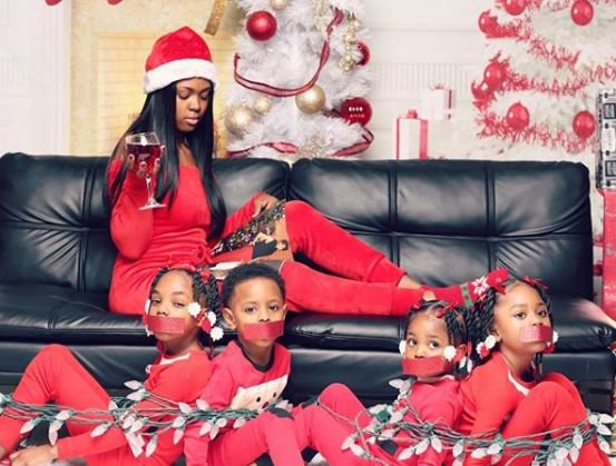 Mother Ties Up Her Four Kids In A Viral Christmas Photo