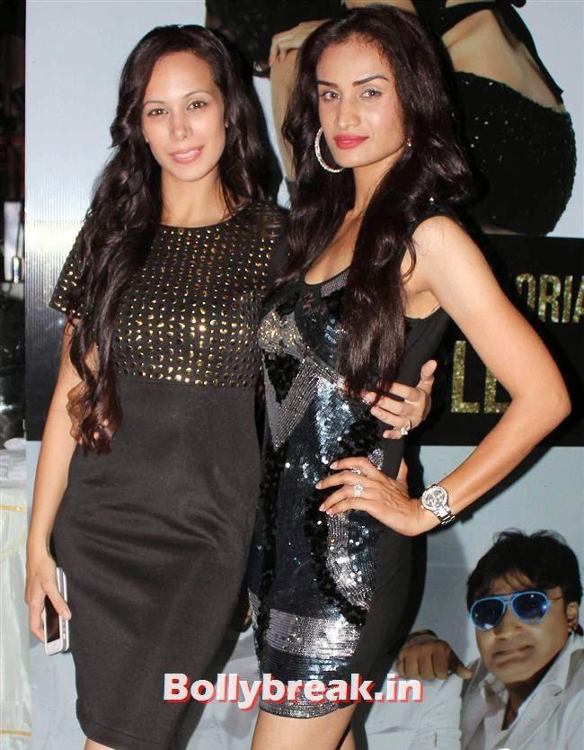 , Sunny Leone, Gauhar & Sana Khan at Baby Doll Success Party