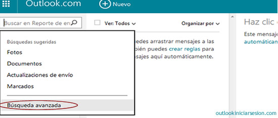 buscador de Outlook