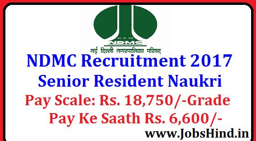 NDMC Recruitment 2017