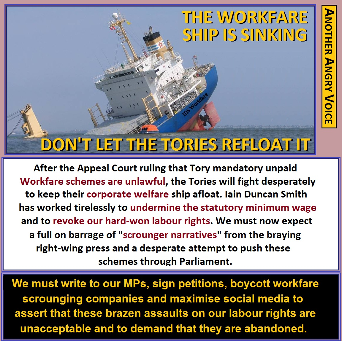 Aav The Workfare Ship Is Sinking