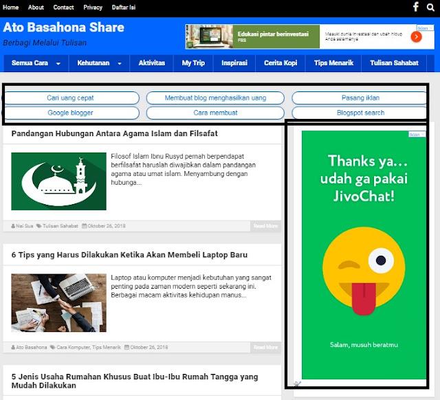 Hasil Uji Coba Posisi Penempatan Iklan Adsense di Blog Selama Satu Minggu