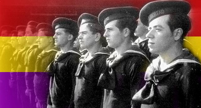 La bandera de la Armada Republicana