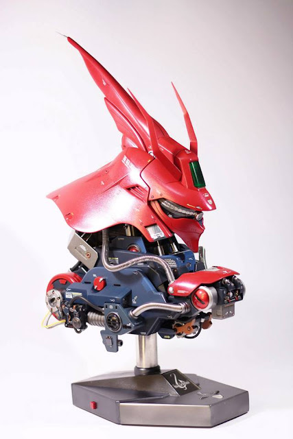 G-system 1/24 Sazabi Head Desktop Display Custom by PunkConceited