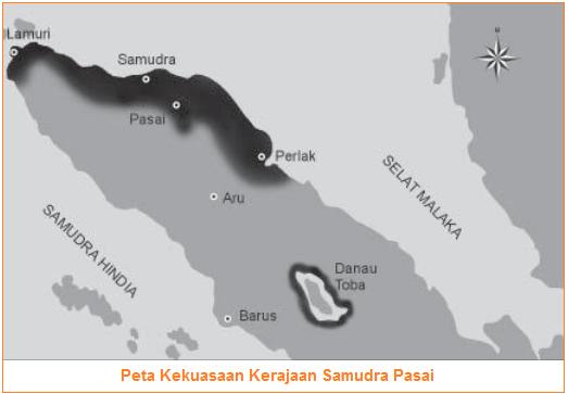 Gambar peta kekuasaan Kerajaan Samudra Pasai