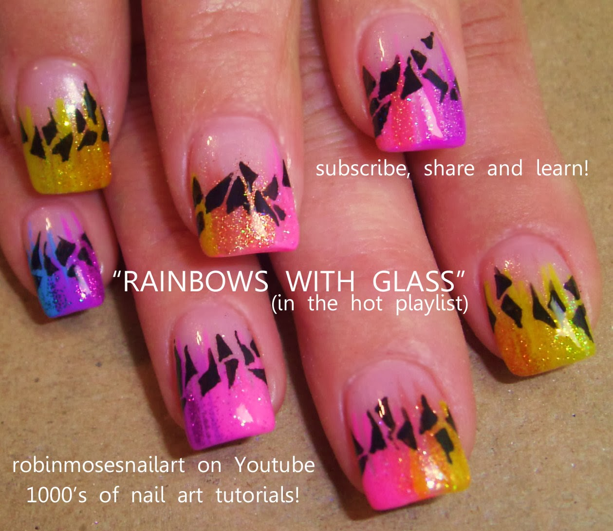 """Stained Glass Nail Art: Robin Moses Nail Art: """"stained Glass Nails"""" """"valentine's"""