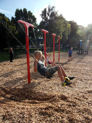 sunny day for equinox after school playground