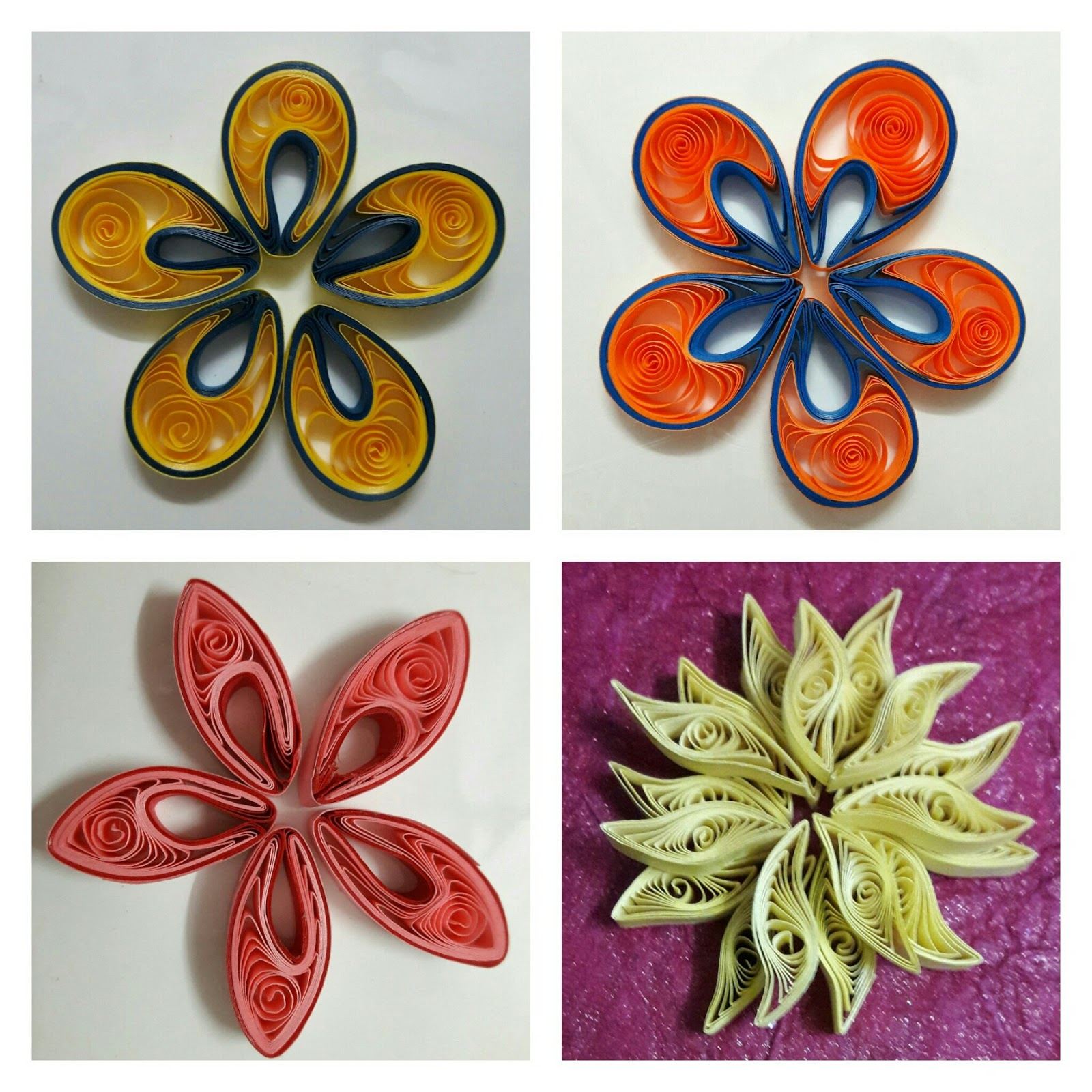 Craft decor some more quilling flowers bright flowers made with 5mm wide paper strips mightylinksfo