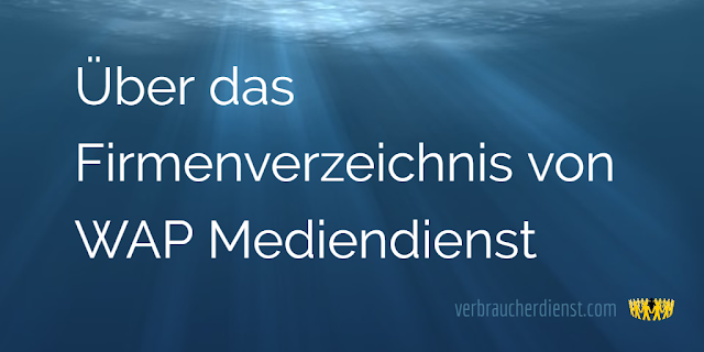 Titel: WAP Mediendienst: Erfahrungen mit dem Firmenverzeichnis