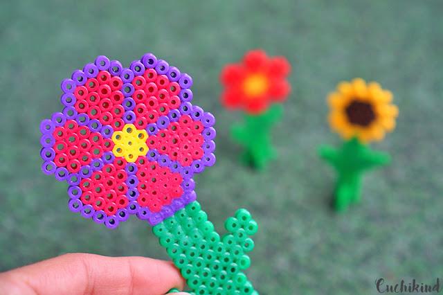 Hama beads flowers